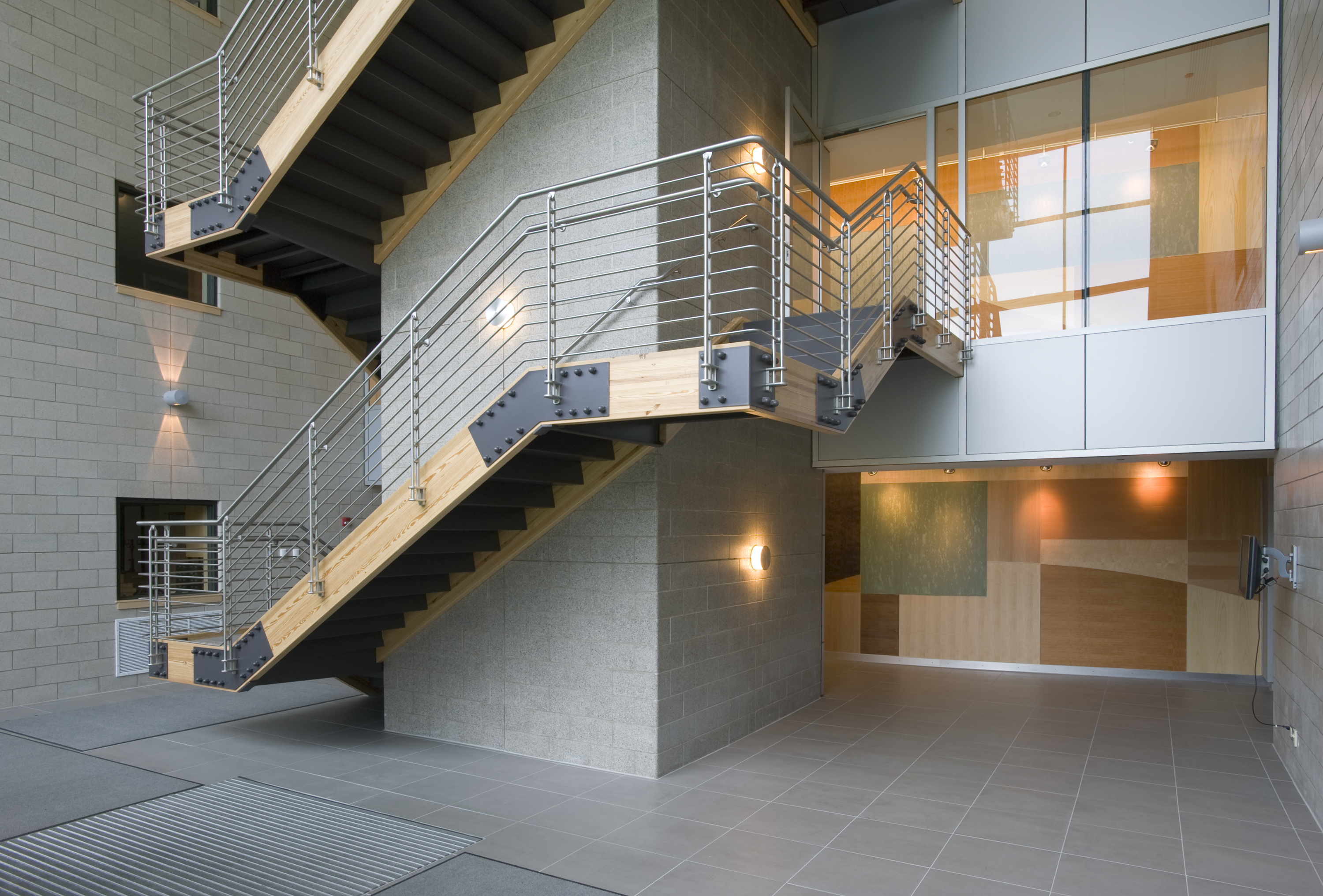 John P. Stopen Baker Hall SUNY ESF Project interior stairwell