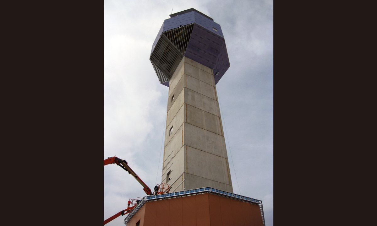 John P. Stopen Air Traffic Control Tower Fort Drum Project construction