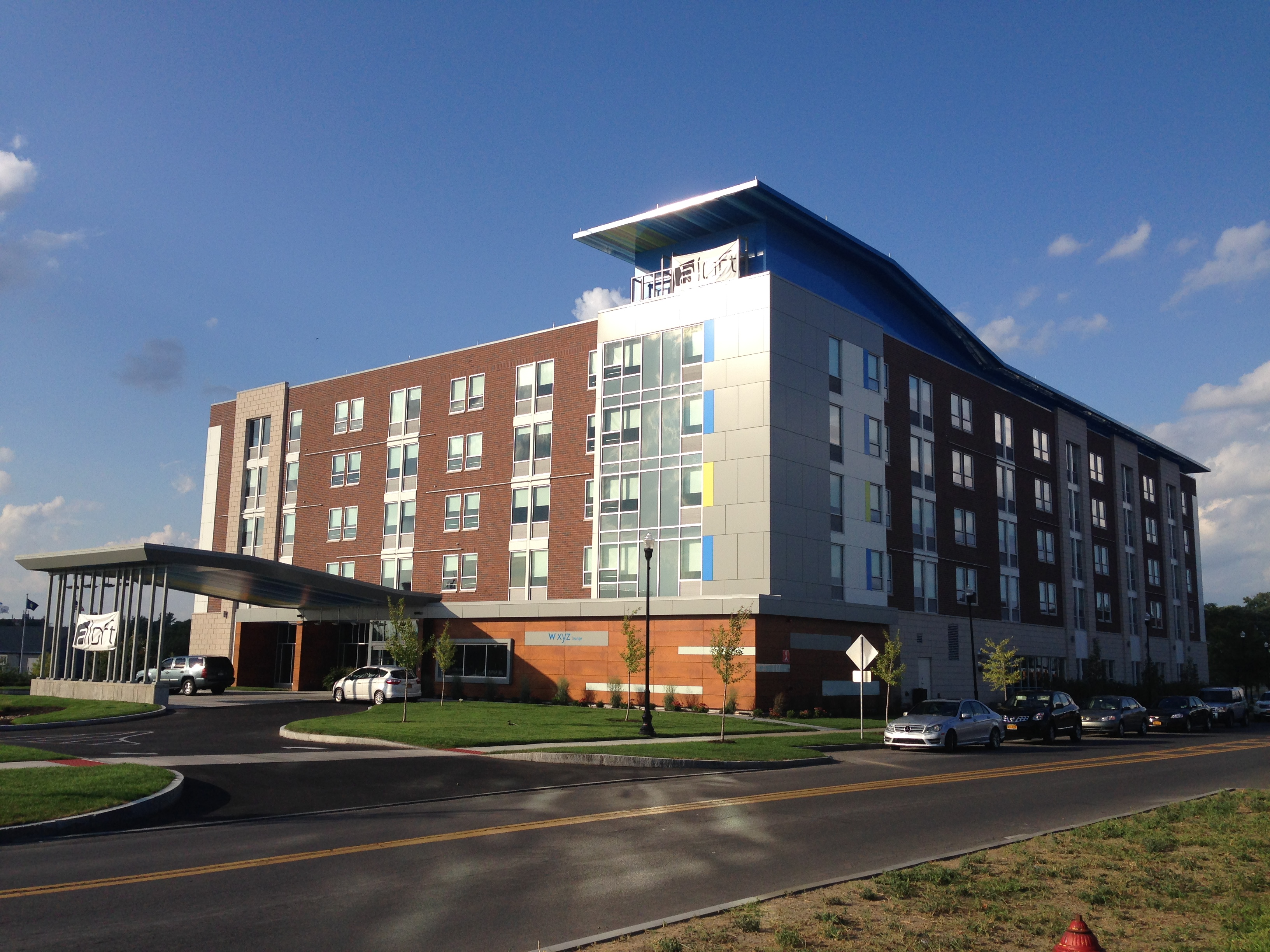 John P. Stopen Aloft Hotel Inner Harbor Syracuse Project completed exterior