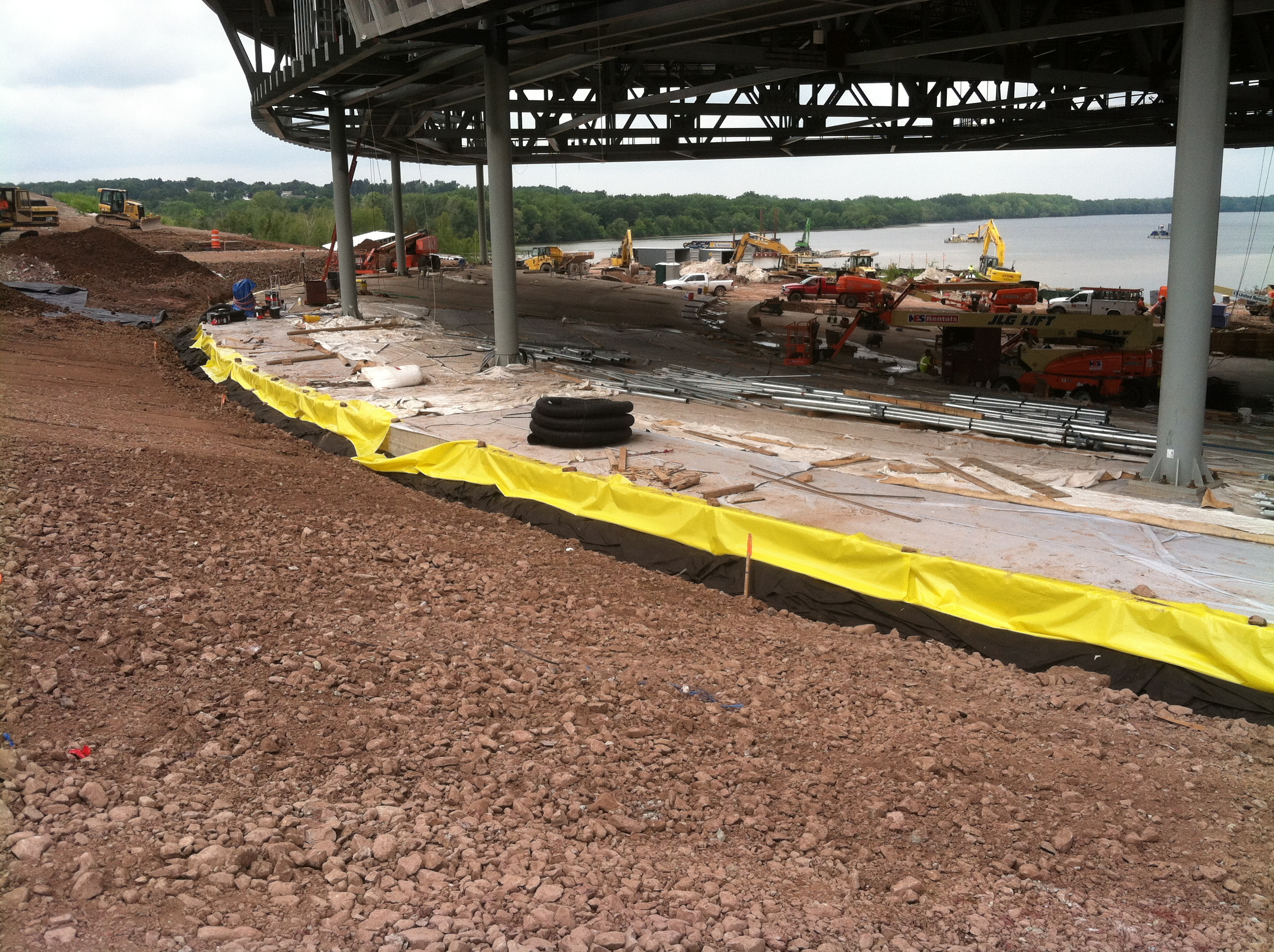 John P. Stopen Lakeview Amphitheater Project construction