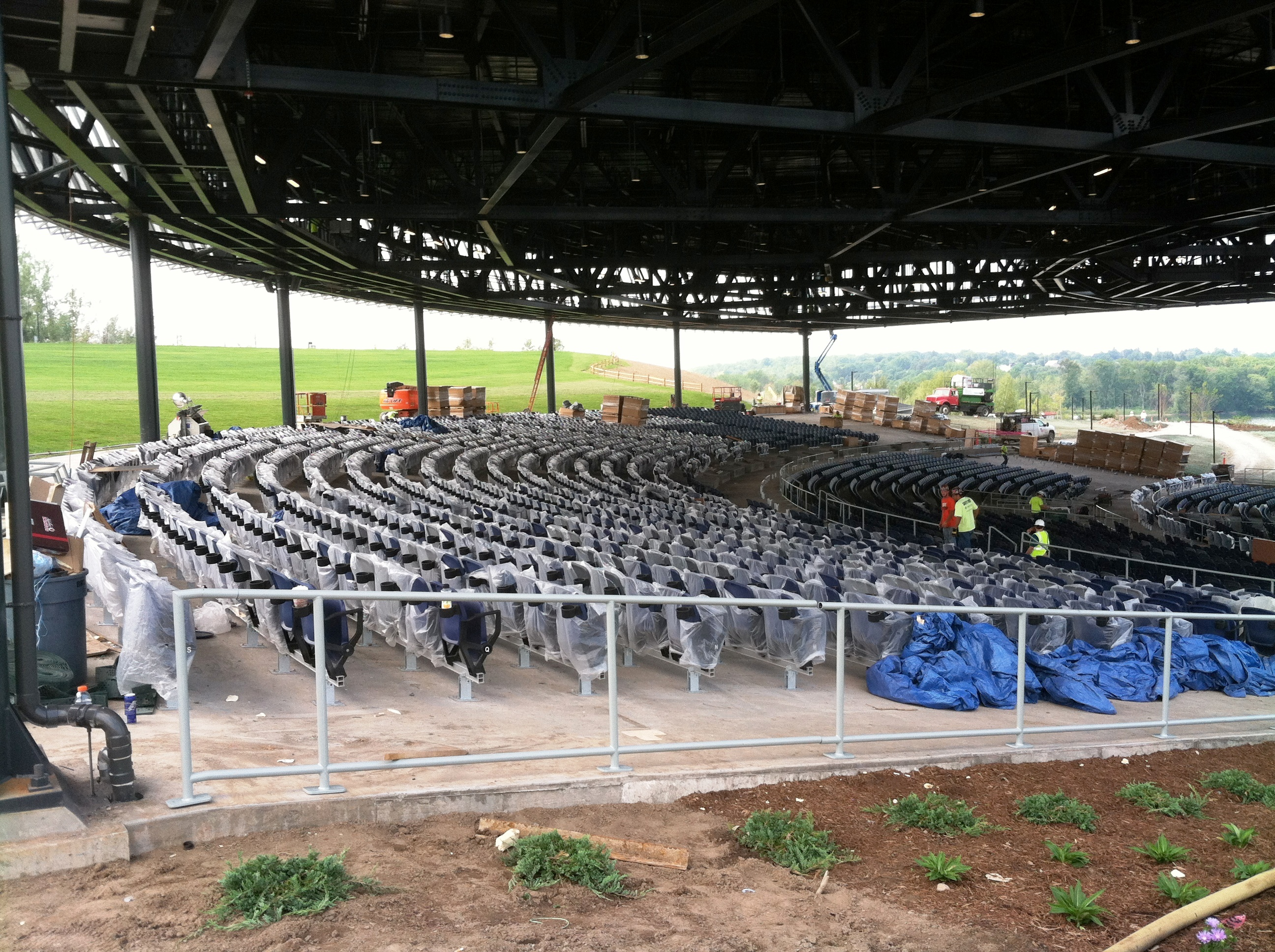 John P. Stopen Lakeview Amphitheater Project seating construction