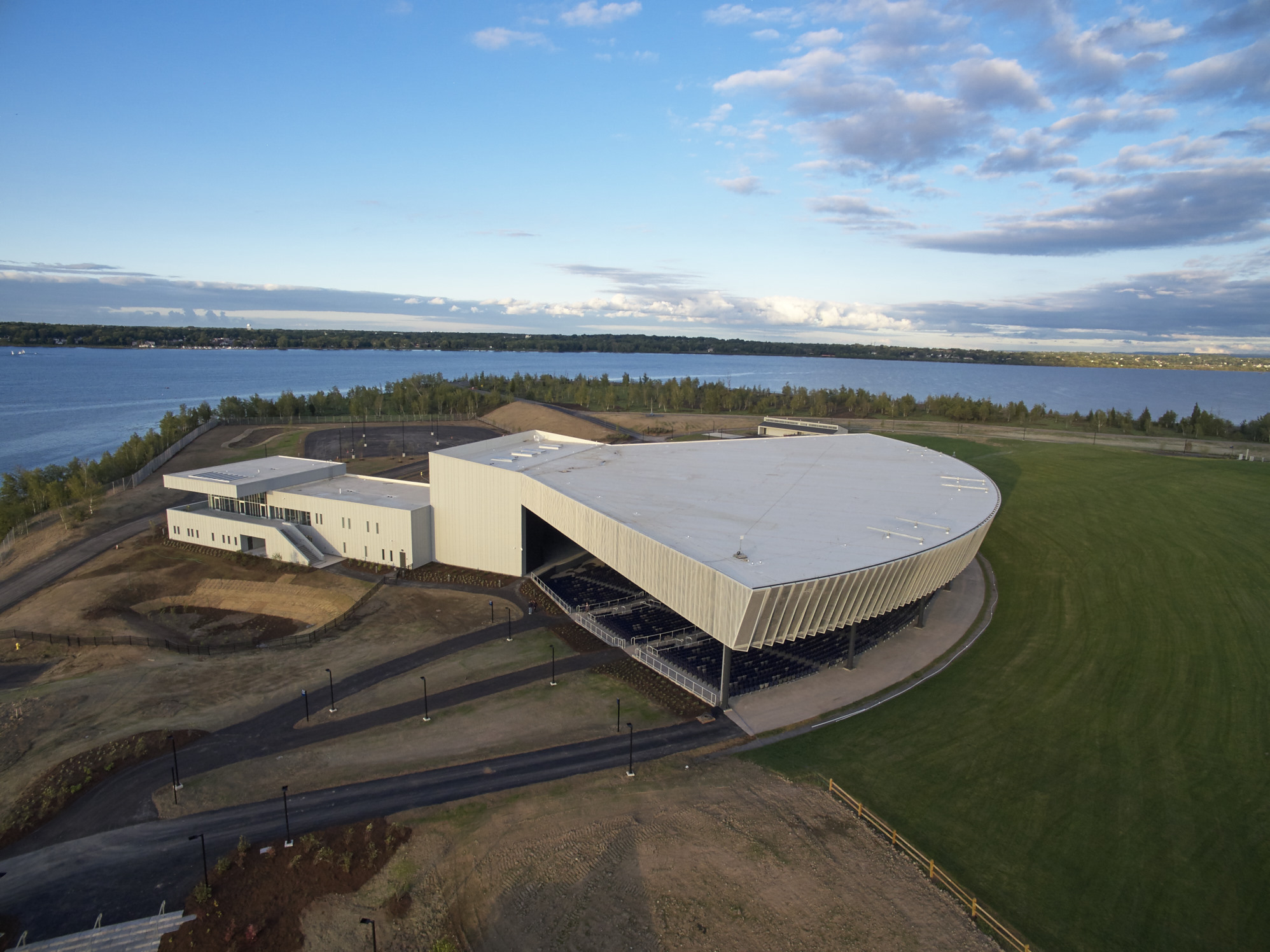 John P. Stopen Lakeview Amphitheater complete drone view