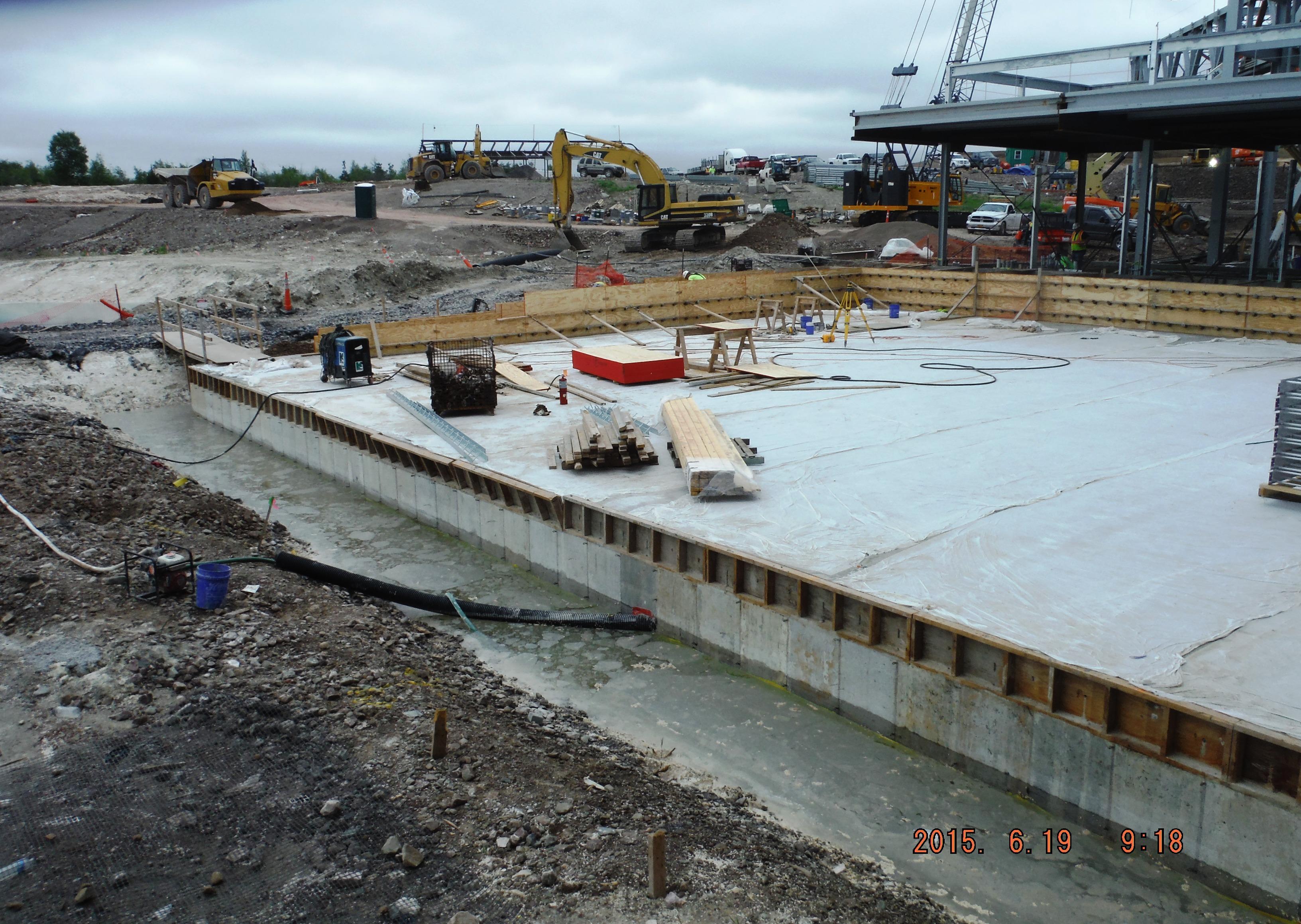 John P. Stopen Lakeview Amphitheater Project construction