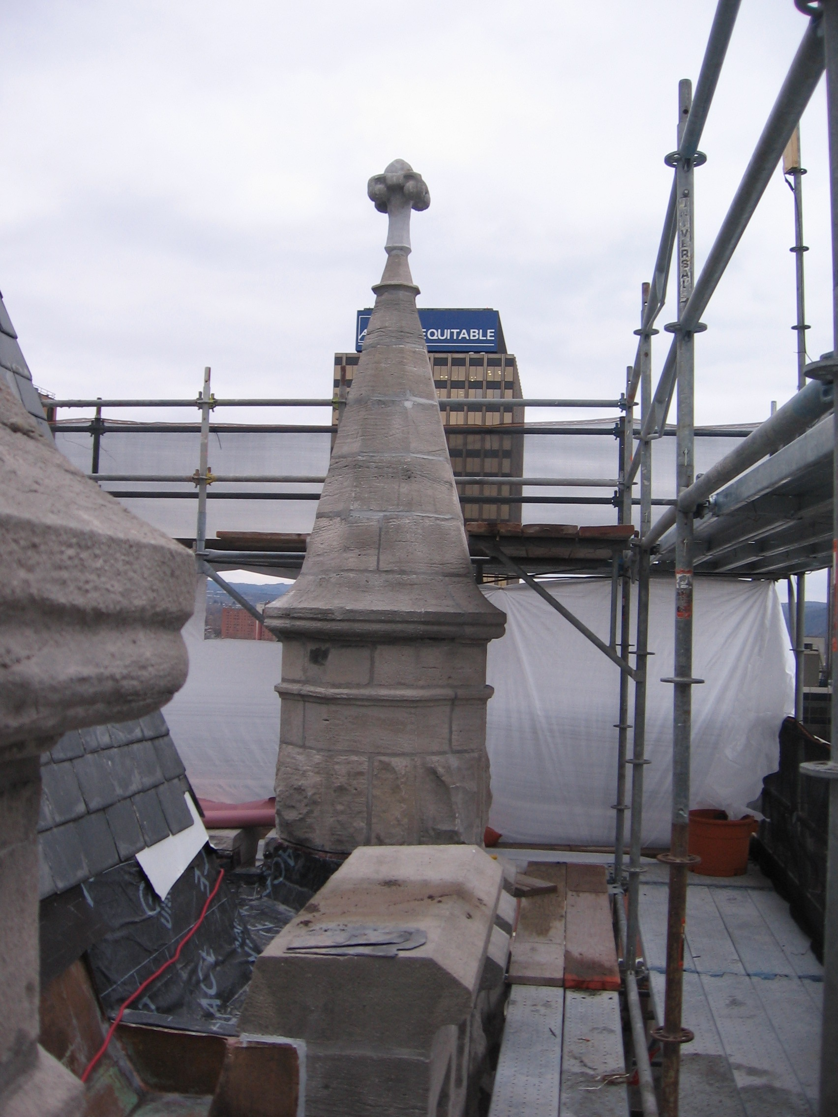 John P. Stopen Cathedral of Immaculate Conception Project wall roof construction