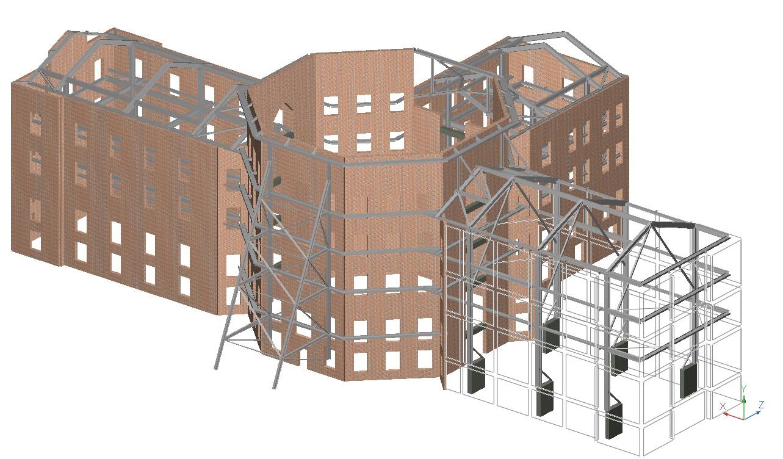 John P. Stopen Cowles Hall Elmira College Project digital rendering