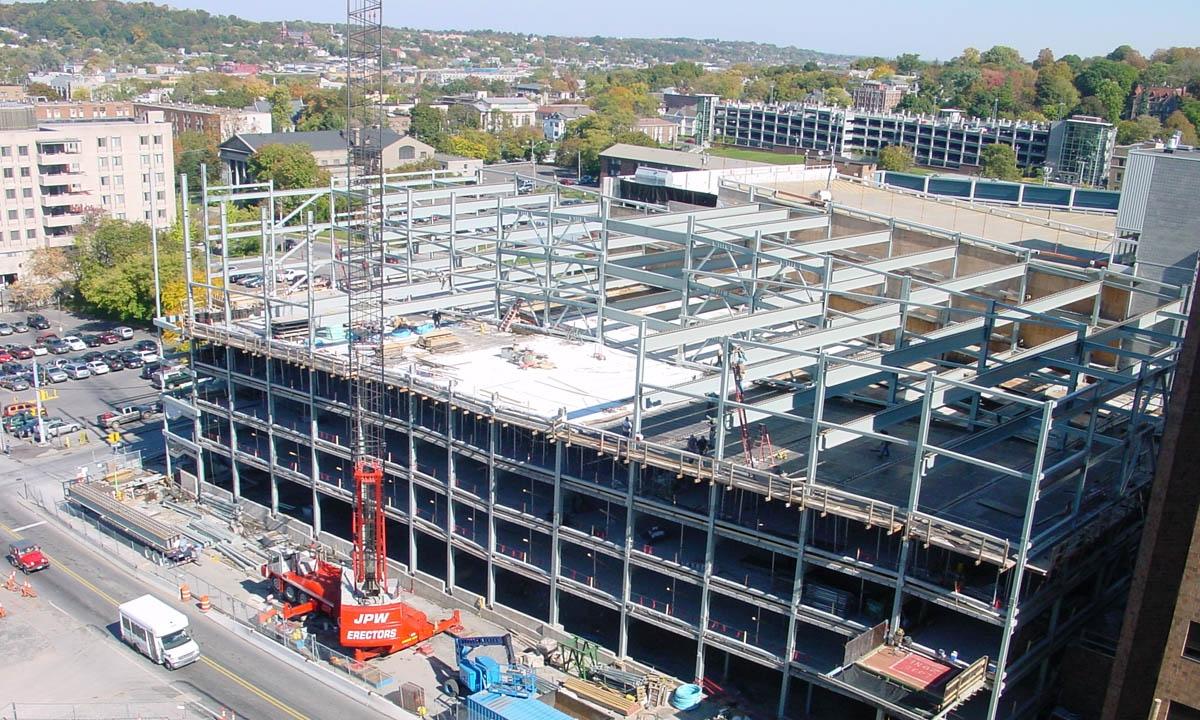 John P. Stopen Crouse Hospital Parking Garage exterior construction