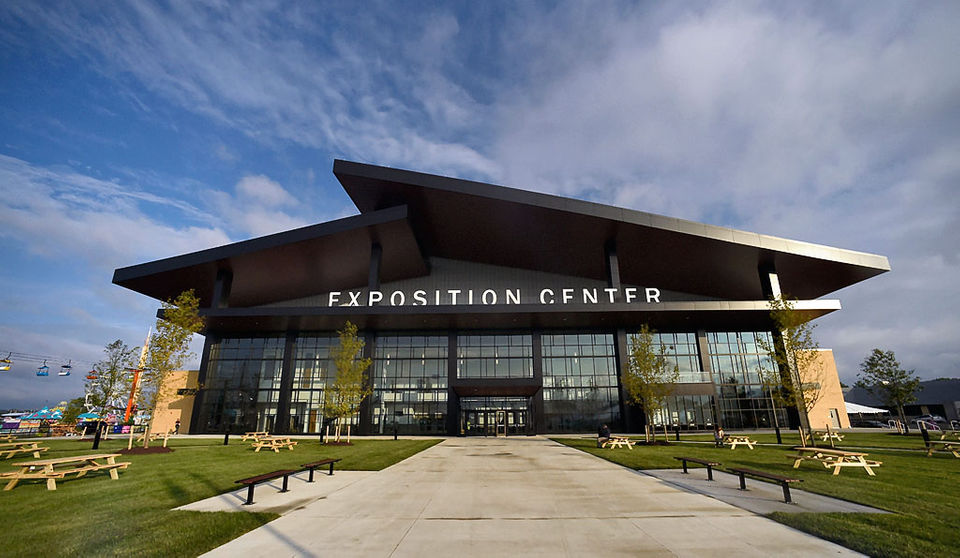 John P. Stopen New York State Fairgrounds Exposition Center Project completed exterior