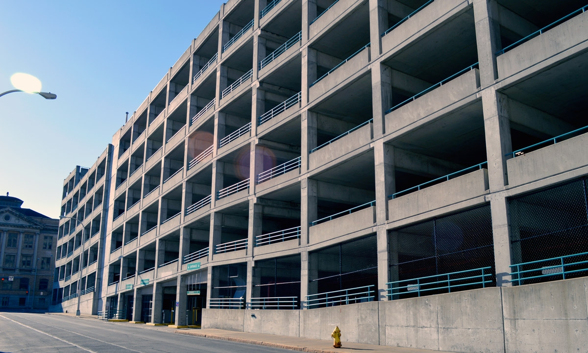John P. Stopen Harrisson Street Parking Garage Project exterior completed