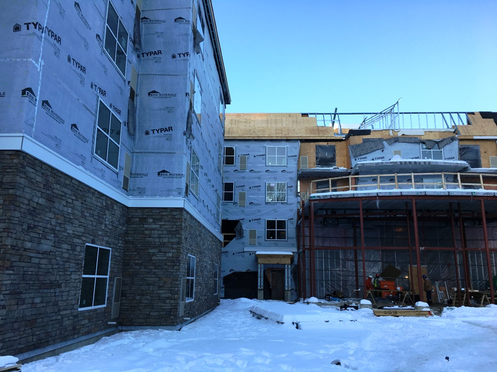 John P. Stopen Homewood Suites Saratoga, NY Project construction