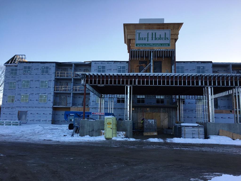 John P. Stopen Homewood Suites Saratoga, NY Project construction
