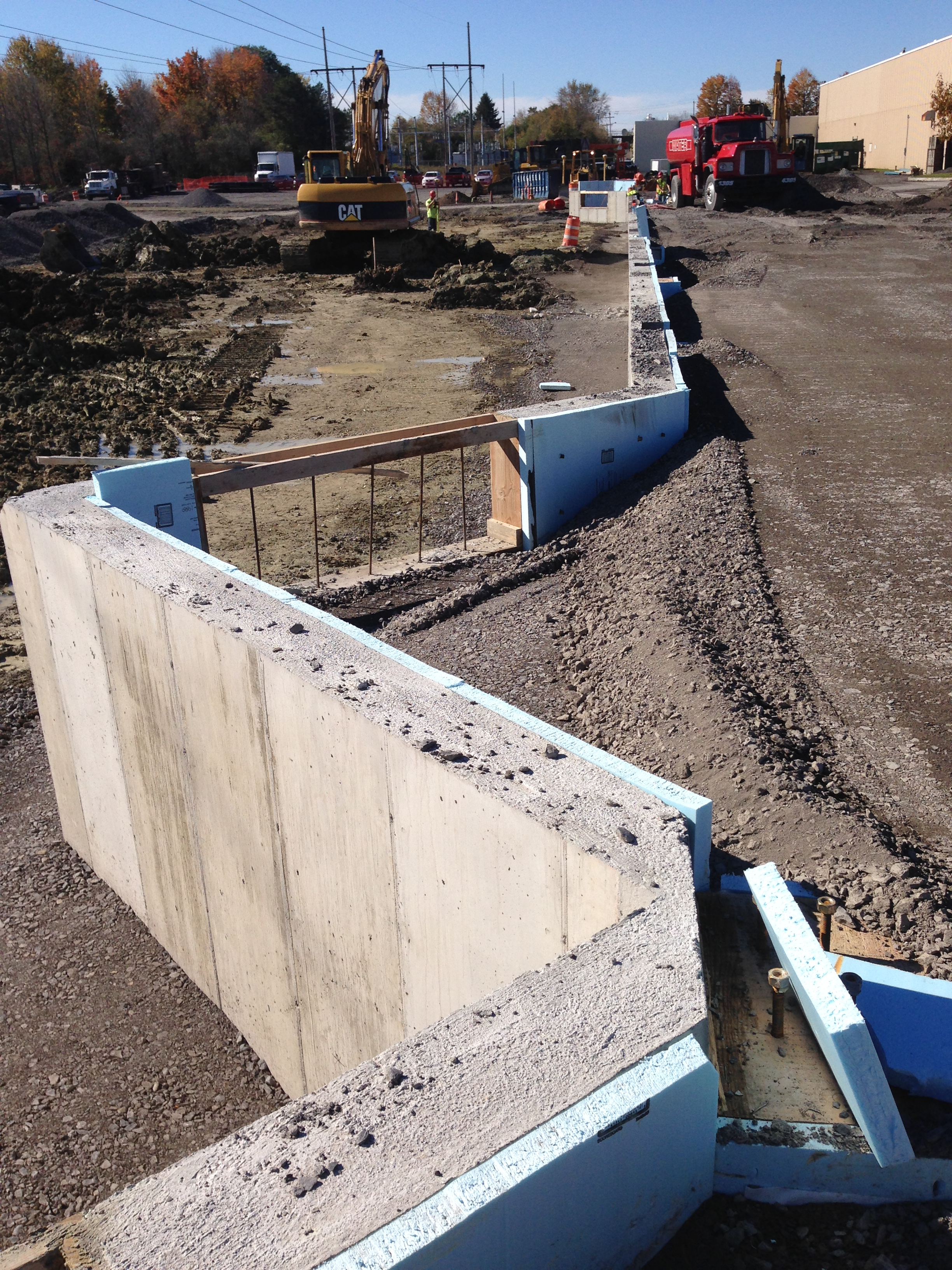 John P. Stopen Inficon Industrial Project retaining wall