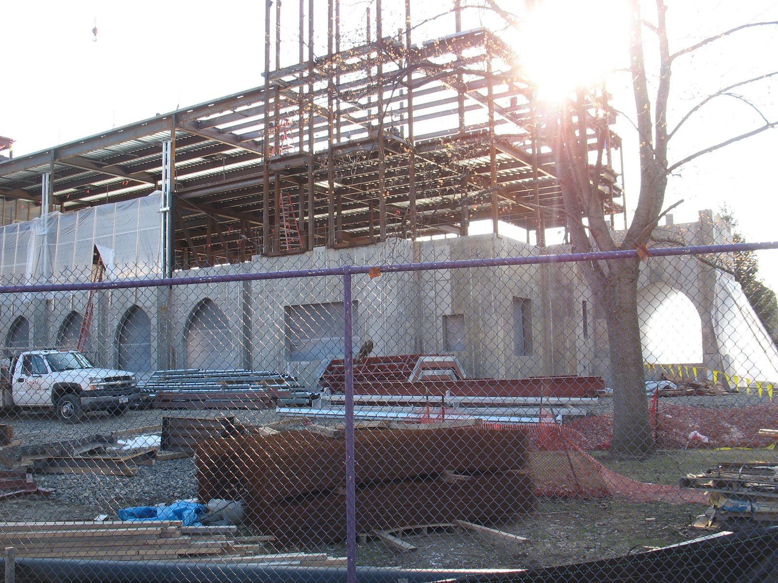 John P. Stopen Meier Hall Elmira College Project exterior construction