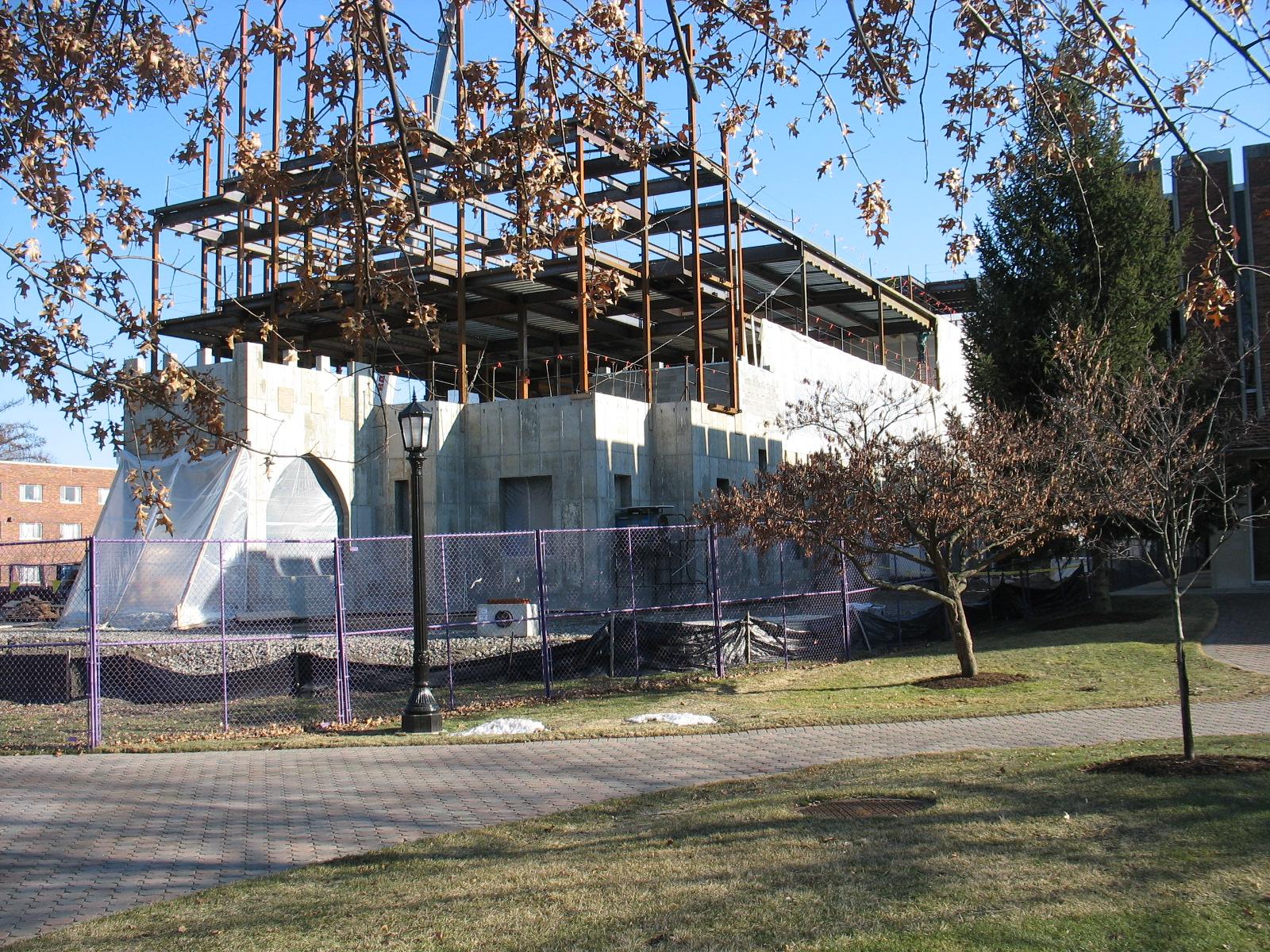 John P. Stopen Meier Hall Elmira College Project construction
