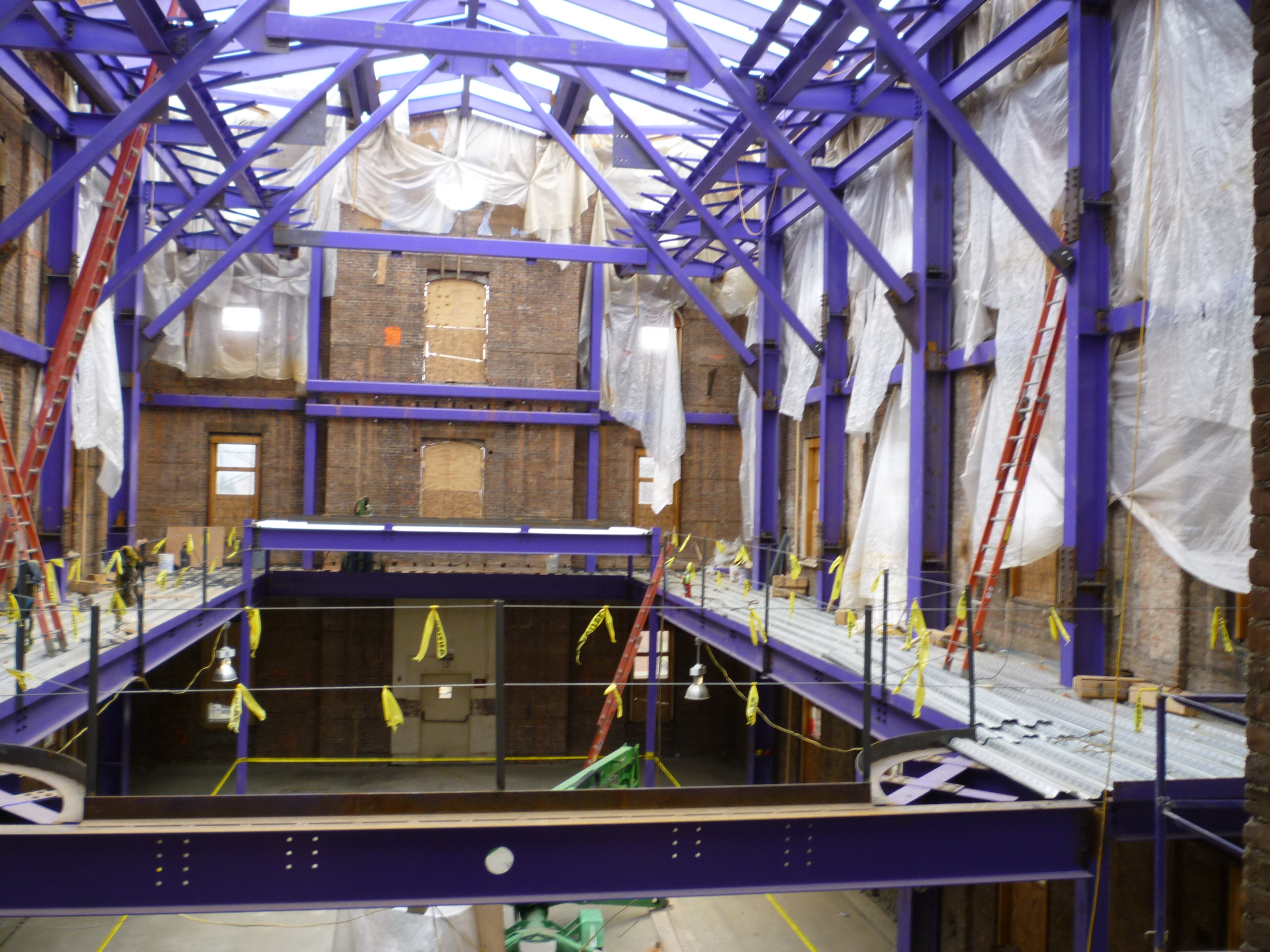 John P. Stopen Cowles Hall Elmira College Project interior construction