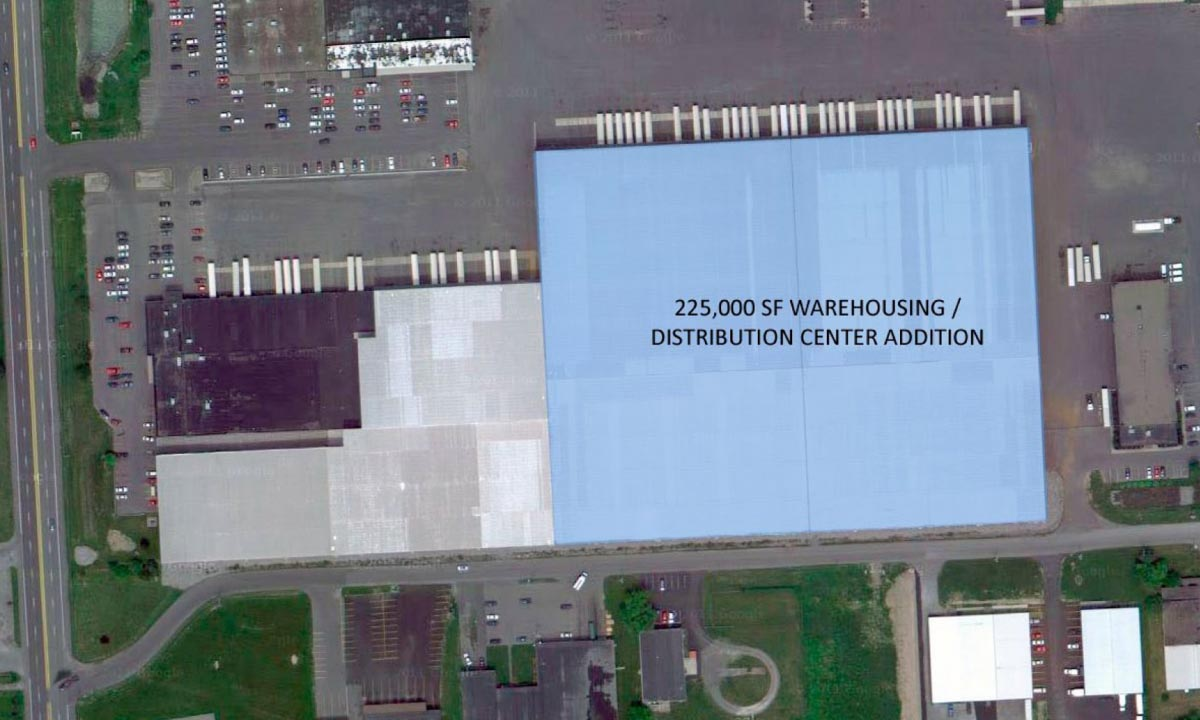 John P. Stopen Raymour & Flanigan Industrial Project warehouse rendering