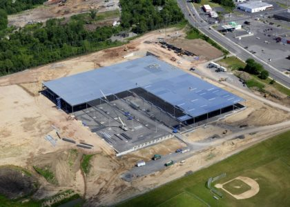 John P. Stopen Southern Wine & Spirits Warehouse Addition drone view construction