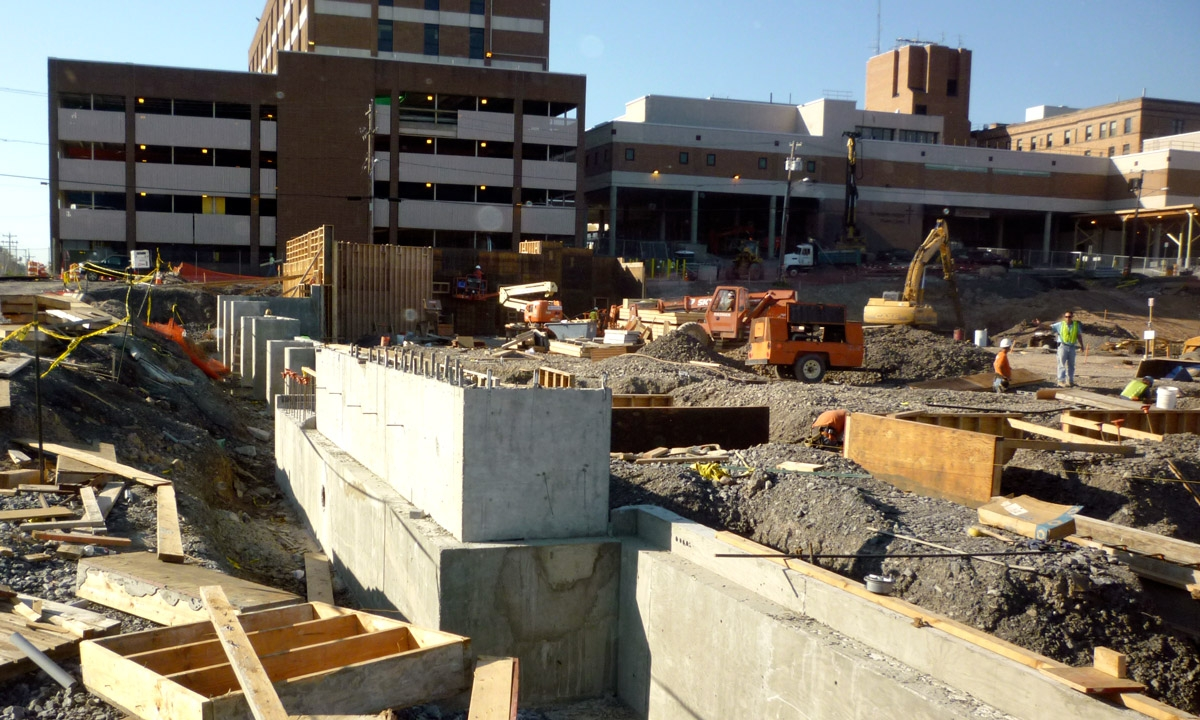 John P. Stopen St. Joseph's Hospital Emergency Services expansion construction