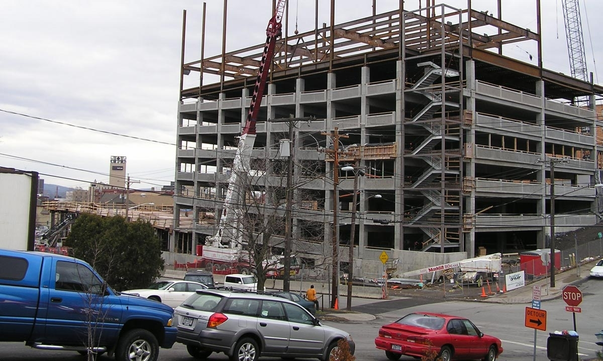John P. Stopen St. Joseph's Parking Garage construction