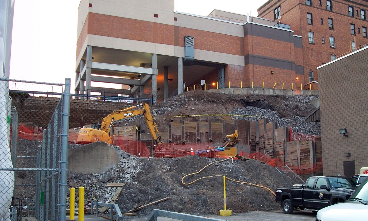 John P. Stopen St. Joseph's Hospital Expansion construction