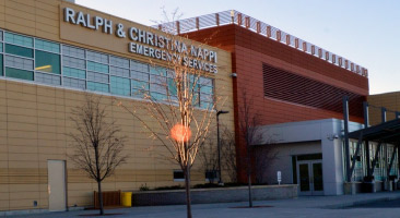John P. Stopen St. Joseph's Hospital Emergency Services addition exterior completed