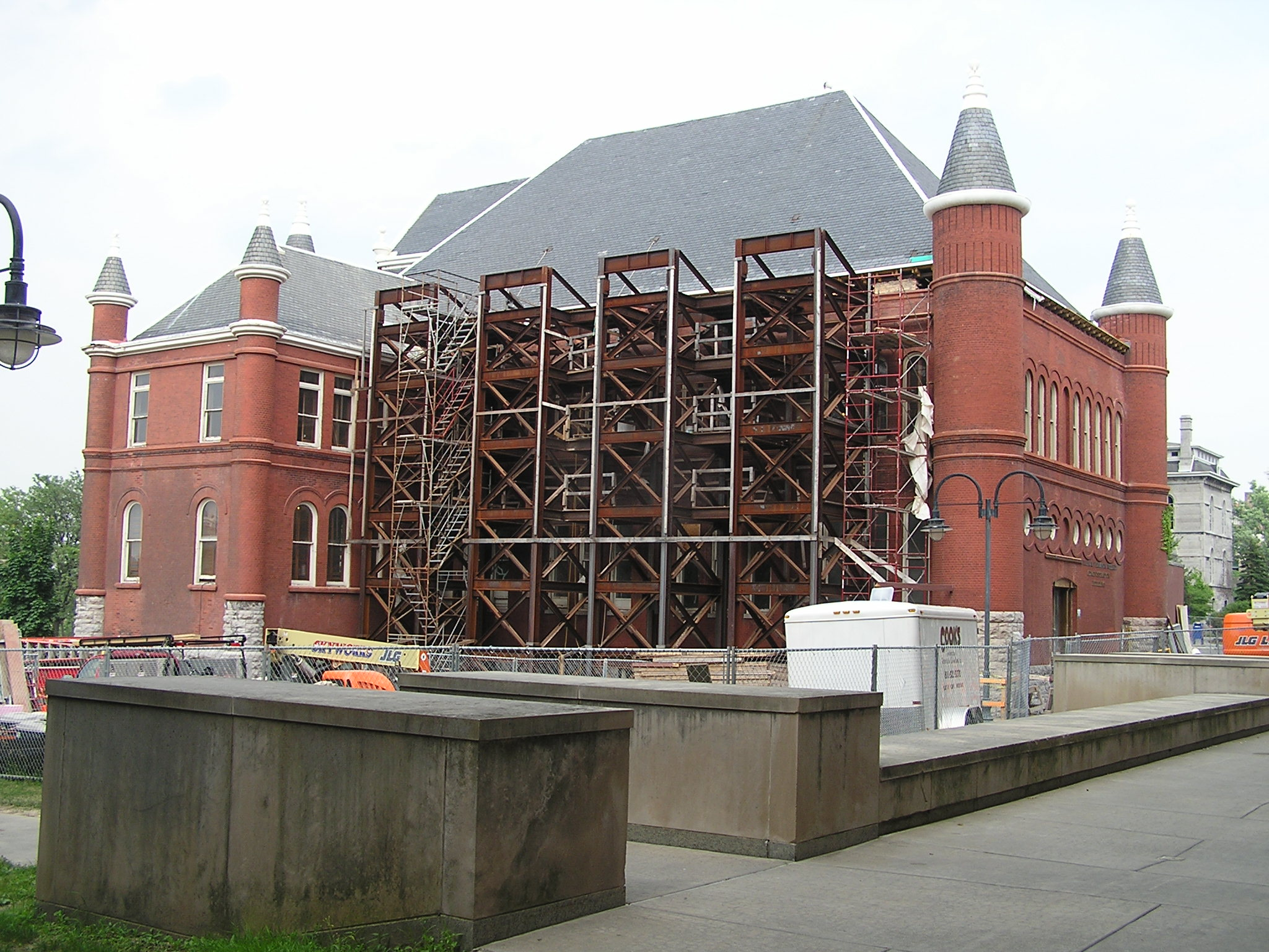 John P. Stopen Tolley Hall Syracuse University Project exterior construction