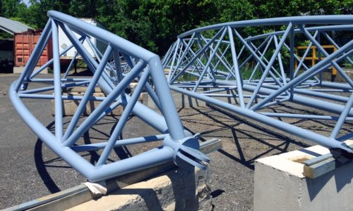 John P. Stopen Trinity School Project radial steel trusses detail