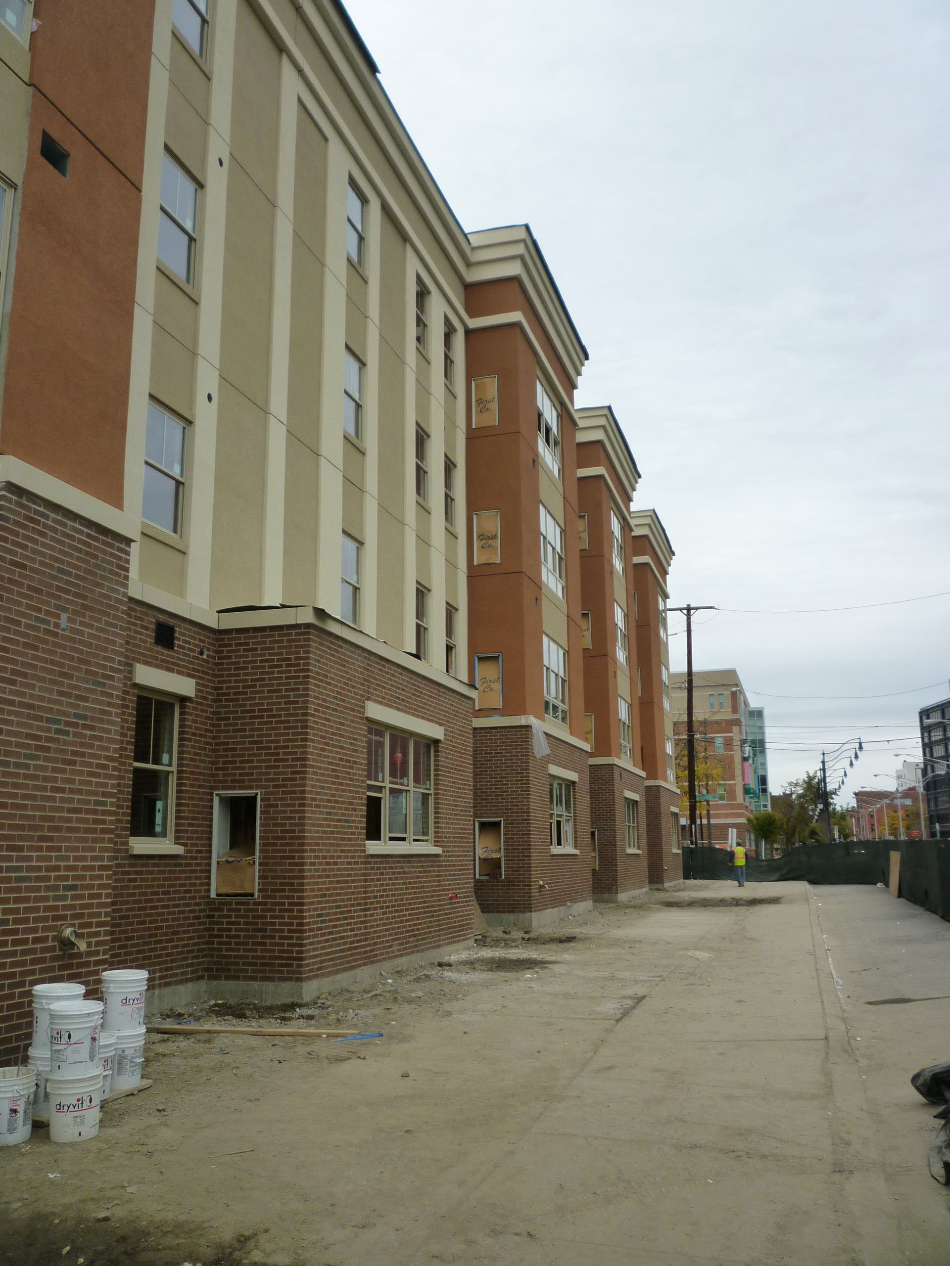 John P. Stopen Twin River Commons Project exterior construction