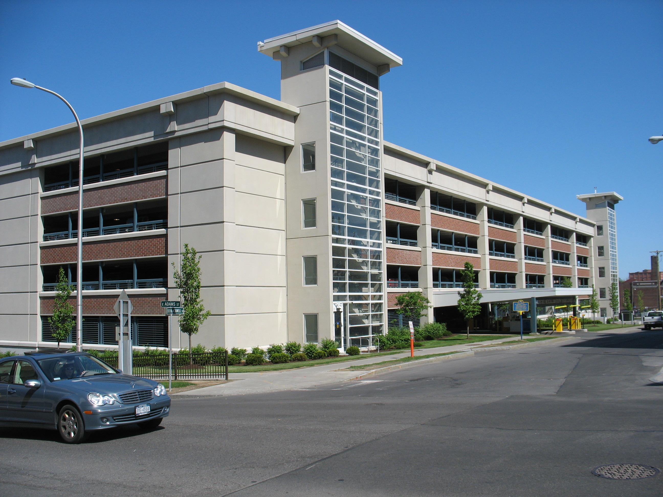 John P. Stopen SUNY Upstate Parking Garage exterior