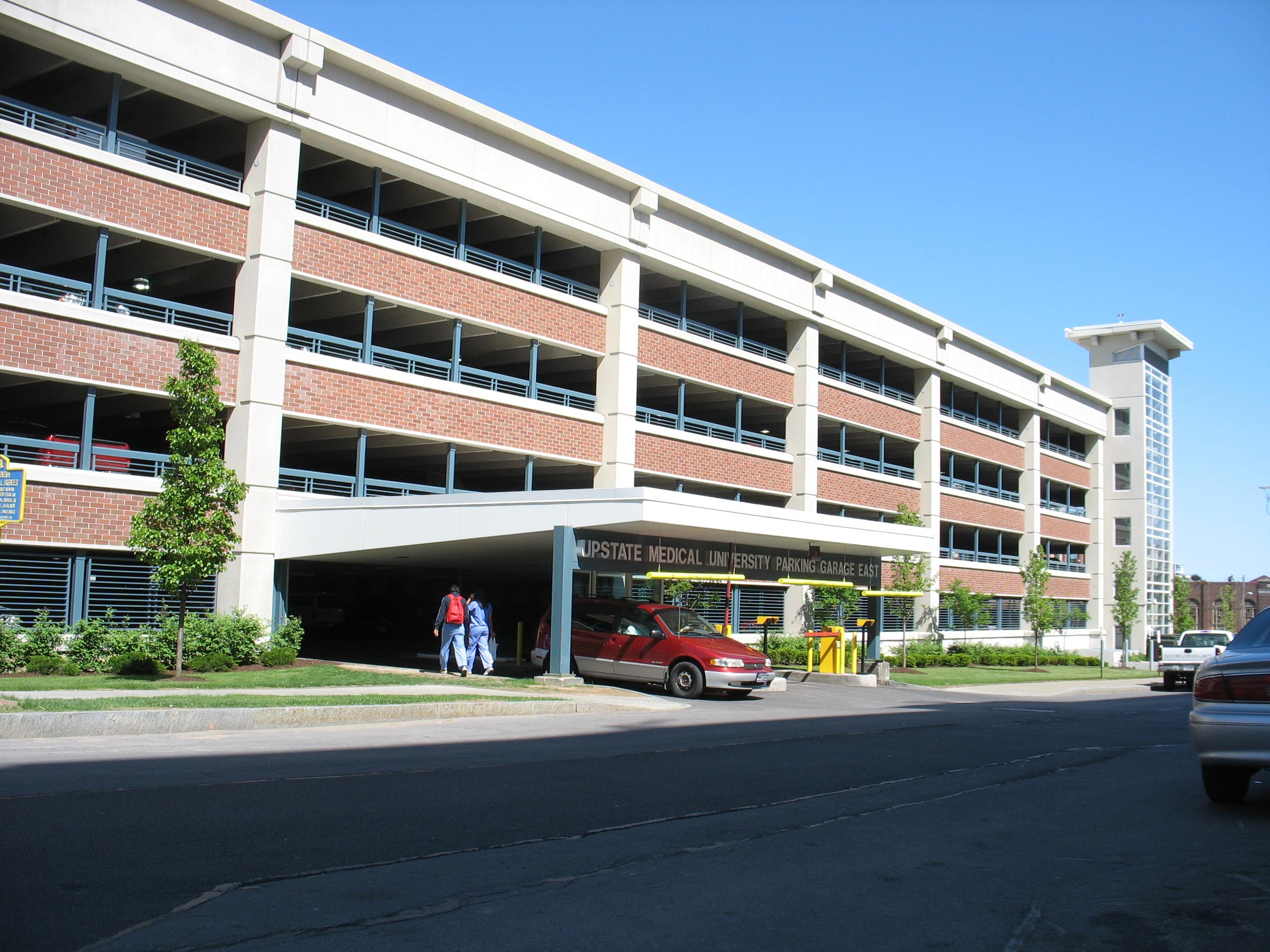 John P. Stopen SUNY Upstate Parking Garage entrance