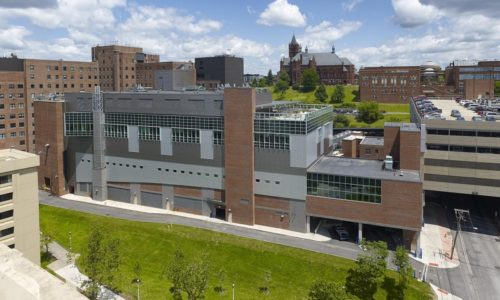 John P. Stopen CAMV SCI Addition exterior complete