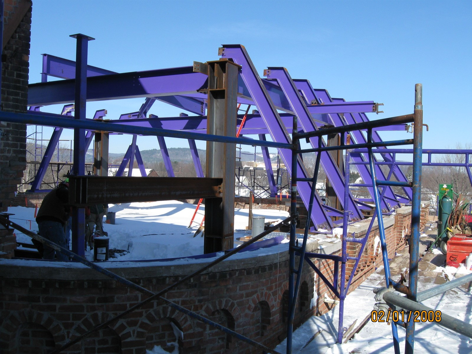 John P. Stopen Cowles Hall Elmira College Project exterior construction