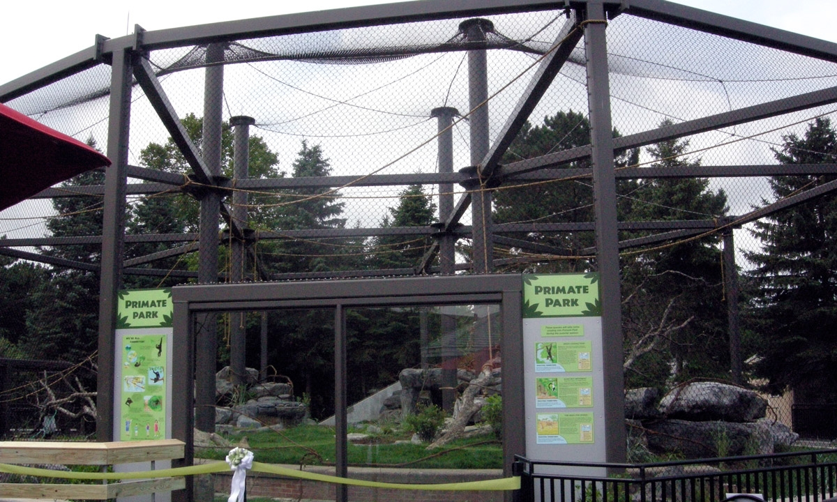 John P. Stopen Rosamond Gifford Zoo Renovation Project primate enclosure completed