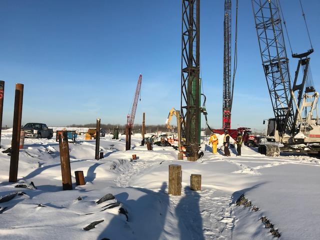 John P. Stopen New York State Fairgrounds Exposition Center winter construction